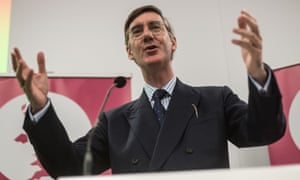 Jacob Rees-Mogg at the Conservative conference in Manchester.