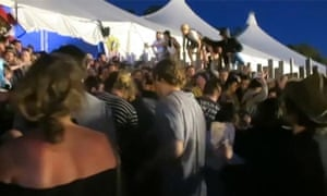 A crush of people at Falls festival in Lorne