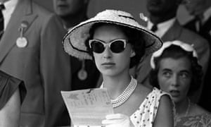 Princess Margaret at the races in Jamaica, 1955.