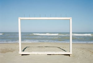 Marina di Ravenna , 1986, from Il profilo delle nuvoleGhirri's series Il profilo delle nuvole (The outline of clouds) continued in this more conceptual vein, the images evoking feelings of melancholy, suspension, and enchantment.