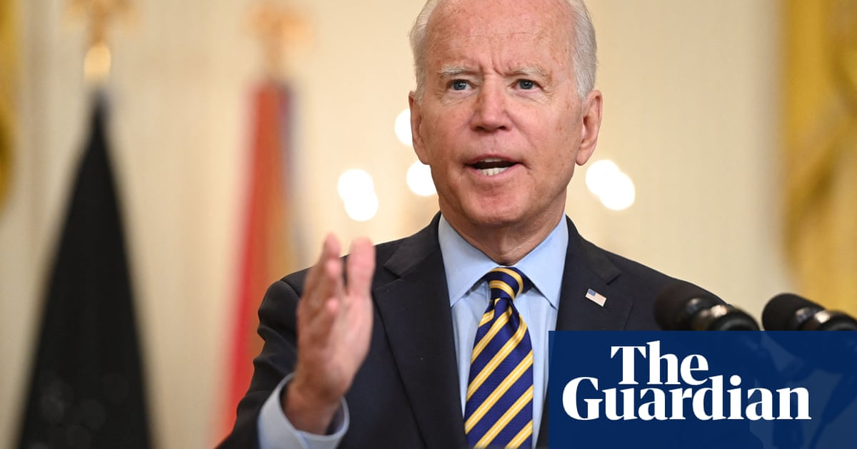 Biden says no 'mission accomplished moment' as US troops withdraw from Afghanistan – video