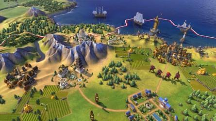 Civilization VI, latest version of the game.