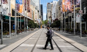 Australia's second-largest city Melbourne is still under severe lockdowns.