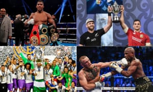 Anthony Joshua, the All Blacks and Lions captains, Real Madrid winning the Champions League and Conor McGregor landing a shot on Floyd Mayweather.