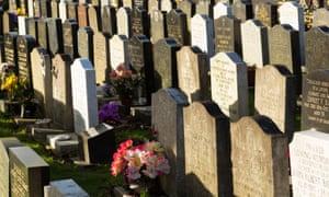 A UK graveyard
