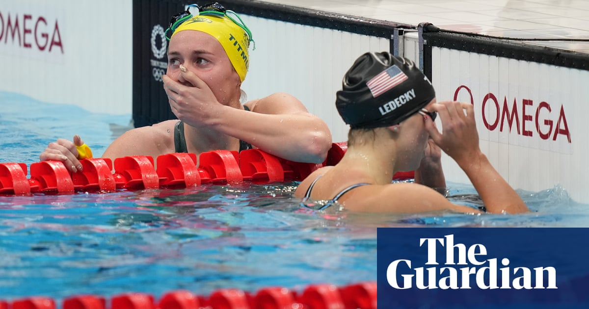 Ariarne Titmus ends Katie Ledecky's reign in Olympic 400m freestyle thriller