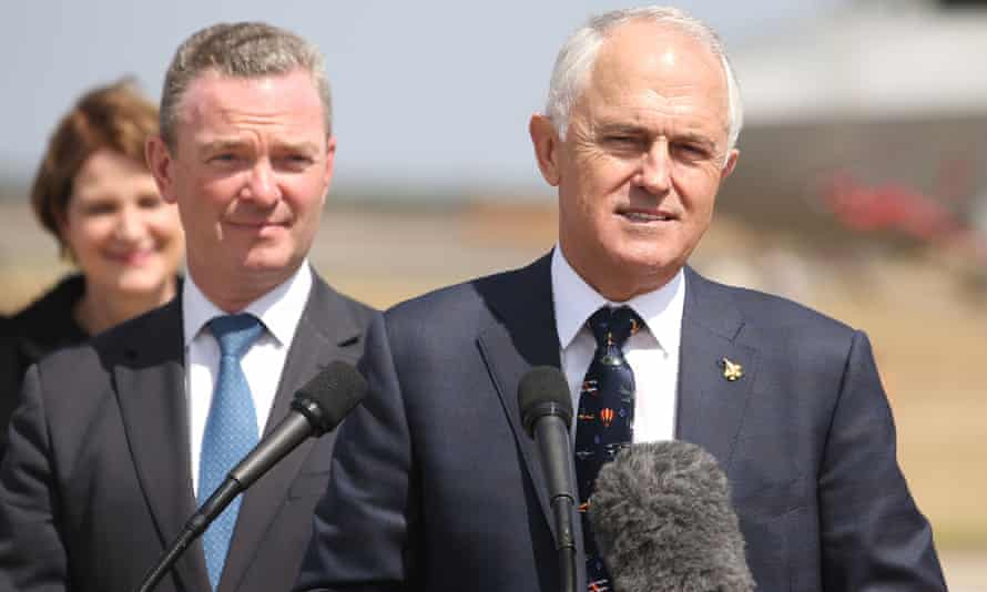 Christopher Pyne and Malcolm Turnbull