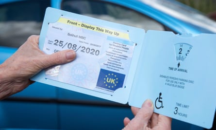 Disabled driver badge