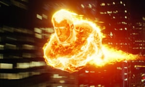 Fiery … Chris Evans in Fantastic Four.