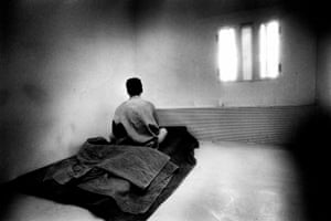 Inmate at Moorland young offenders institution, 13 May 1992. (Archive ref. GUA/6/9/1/1/P).