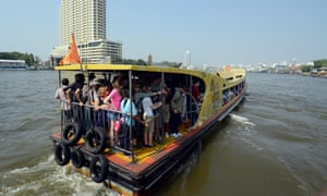 A passenger boat on the Chao Phraya river
