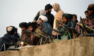 Taliban fighters in the western province of Farah.