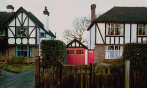 Mock tudor houses in a London suburb.