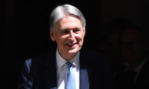 Philip Hammond leaves No.11 Downing Street today.