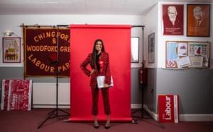 Faiza Shaheen in her constituency office