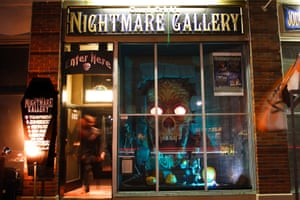 Count Orlok's Nightmare Gallery in Salem, Mass, contains life-size wax figures of cinematic monsters.