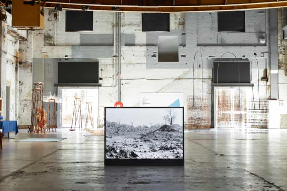 In the National Interest (2020-21) by Alana Hunt is front and centre of this installation shot at Carriageworks, for The National 2021.