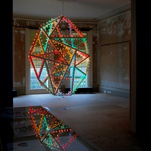 Artwork, of a colourful lantern, by David Batchelor, which featured as part of Brighton's HOUSE visual art festival.