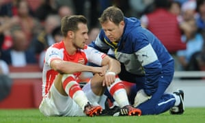 Colin Lewin with Aaron Ramsey in September 2014. The former Arsenal player has invested in the Lewins' clinic.