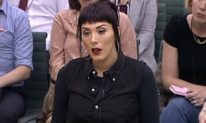 Paris Lees gives evidence to the Home Affairs select committee
