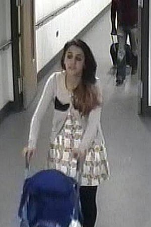 A CCTV still issued by West Midlands police of Tareena Shakil at East Midlands airport, on her way to Turkey