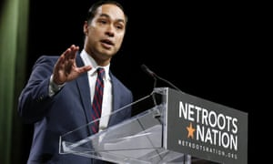 Julián Castro, Barack Obama's secretary of housing and urban development secretary who is considered a possible Democratic presidential contender in 2020, at the Netroots Nation.