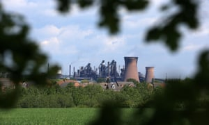 British Steel's Scunthorpe plant in north Lincolnshire.