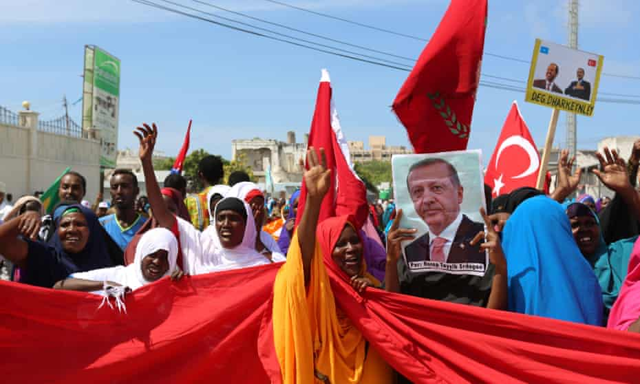 A pro-Turkish demonstration in Mogadishu.