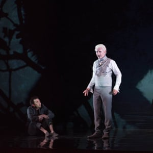 Iestyn Davies (right) as Oberon and Jack Lansbury as Puck.