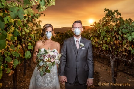 Katie and Curtis Ferland's wedding photo in Sonoma county.