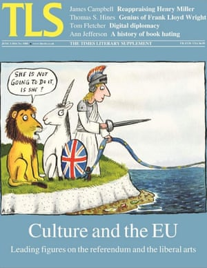 Times Literary Supplement cover 3 June 2016: a host of European cultural figures have written to the TLS in support of Britain remaining in the EU ahead of the referendum on 23 June.