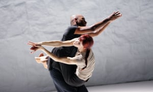 Akram Khan performing with Sylvie Guillem in Sacred Monsters at Sadler's Wells in 2006.