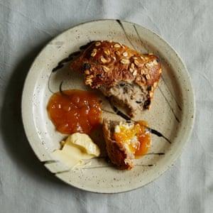 Kylee Newton's peach and lemon thyme jam.