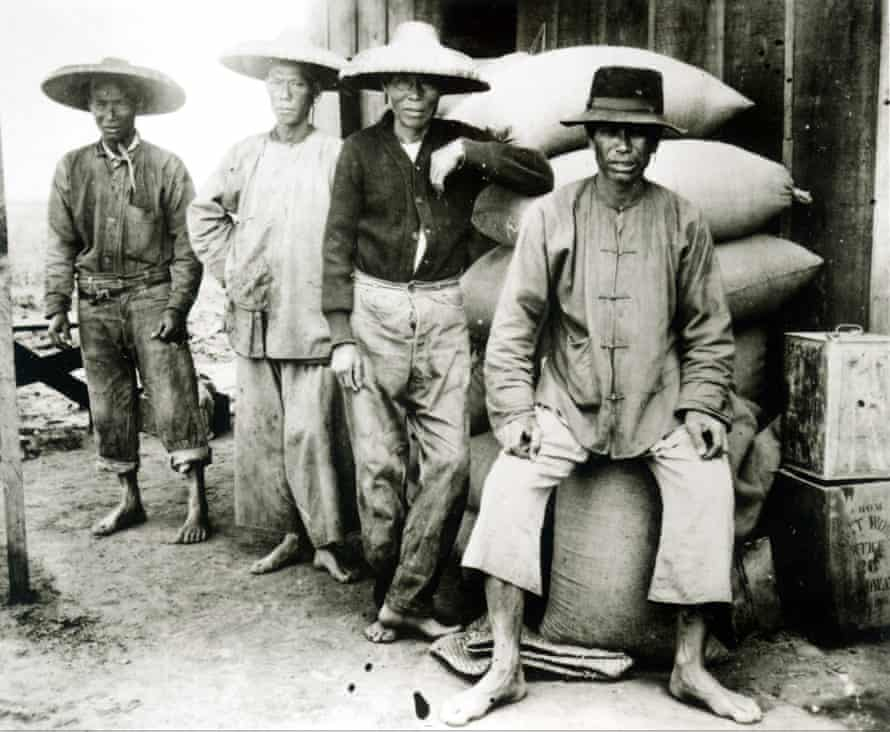 Chinese railroad workers in 19th-century America.THE AMERICAN EXPERIENCE, East finally met West when the Union Pacific Railroad and the Central Pacific Railroad completedHD92PT THE AMERICAN EXPERIENCE, East finally met West when the Union Pacific Railroad and the Central Pacific Railroad completed