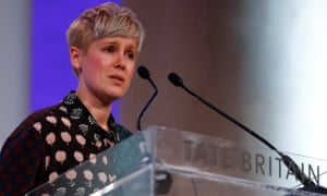 Marten accepting the Turner prize.