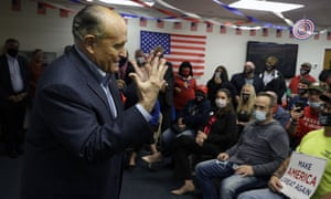 Rudy Giuliani hosts a Trump campaign event in Philadelphia earlier this week. The former New York mayor was the source of the Post's Hunter Biden story.