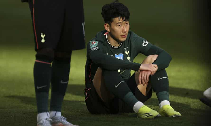 Son Heung-Min was devastated at the final whistle at Wembley.