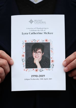 The order of service for Lyra Catherine McKee