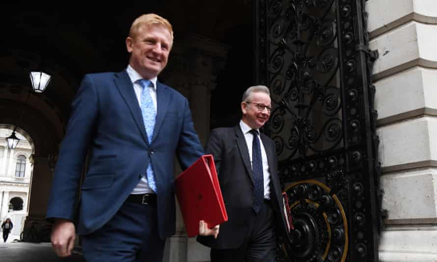 Oliver Dowden with Michael Gove at No 10 in October.