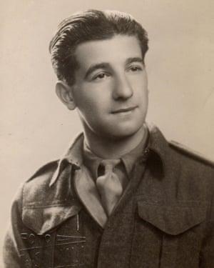 Harry Shindler in his uniform.