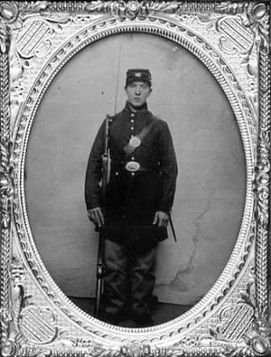 This portrait is believed by some historians to be a photograph of Sarah Rosetta Wakeman, who enlisted in the Union Army under the false identity of Lyons Wakeman at 17.