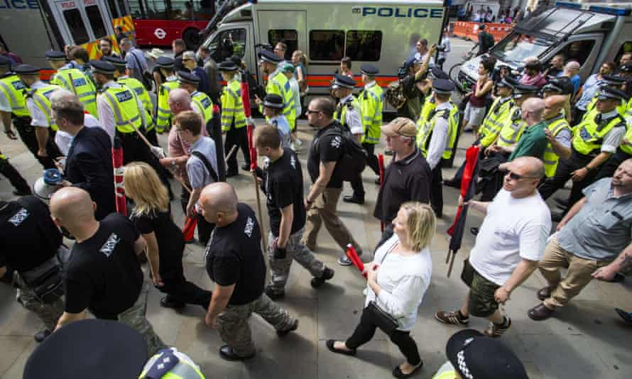 Far-right anti-Jewish demonstrators in London last year