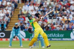 Maxwell hits Rashid four to bring back 150 to Australia.
