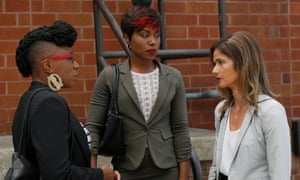 Aisha Hinds, DeWanda Wise and Jill Hennessy in Shots Fired
