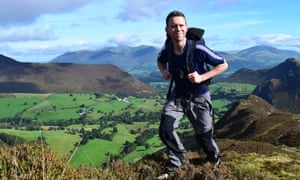 James Forrest climbing Hindscarth in the Lake District