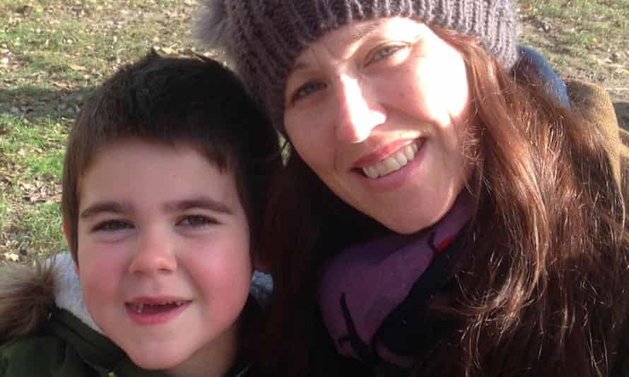 Alfie Dingley and his mother, Hannah Deacon