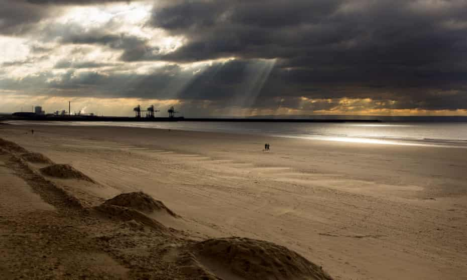 Lovely, ugly … Port Talbot steelworks seen from Aberavon beach.