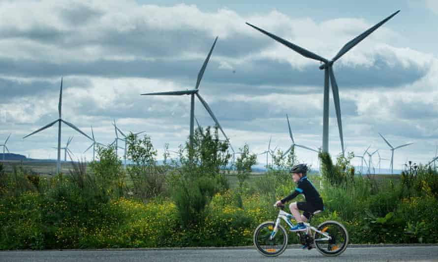 Whitelee windfarm in East Renfrewshire: ministers have cut subsidies.
