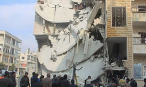 Bomb-damaged building