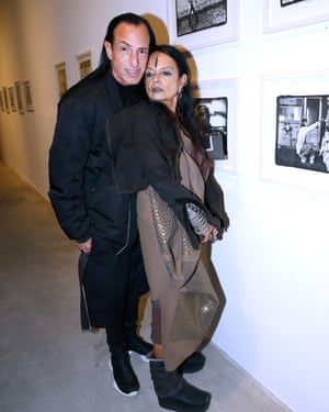 Lamy with her husband, the fashion designer Rick Owens.